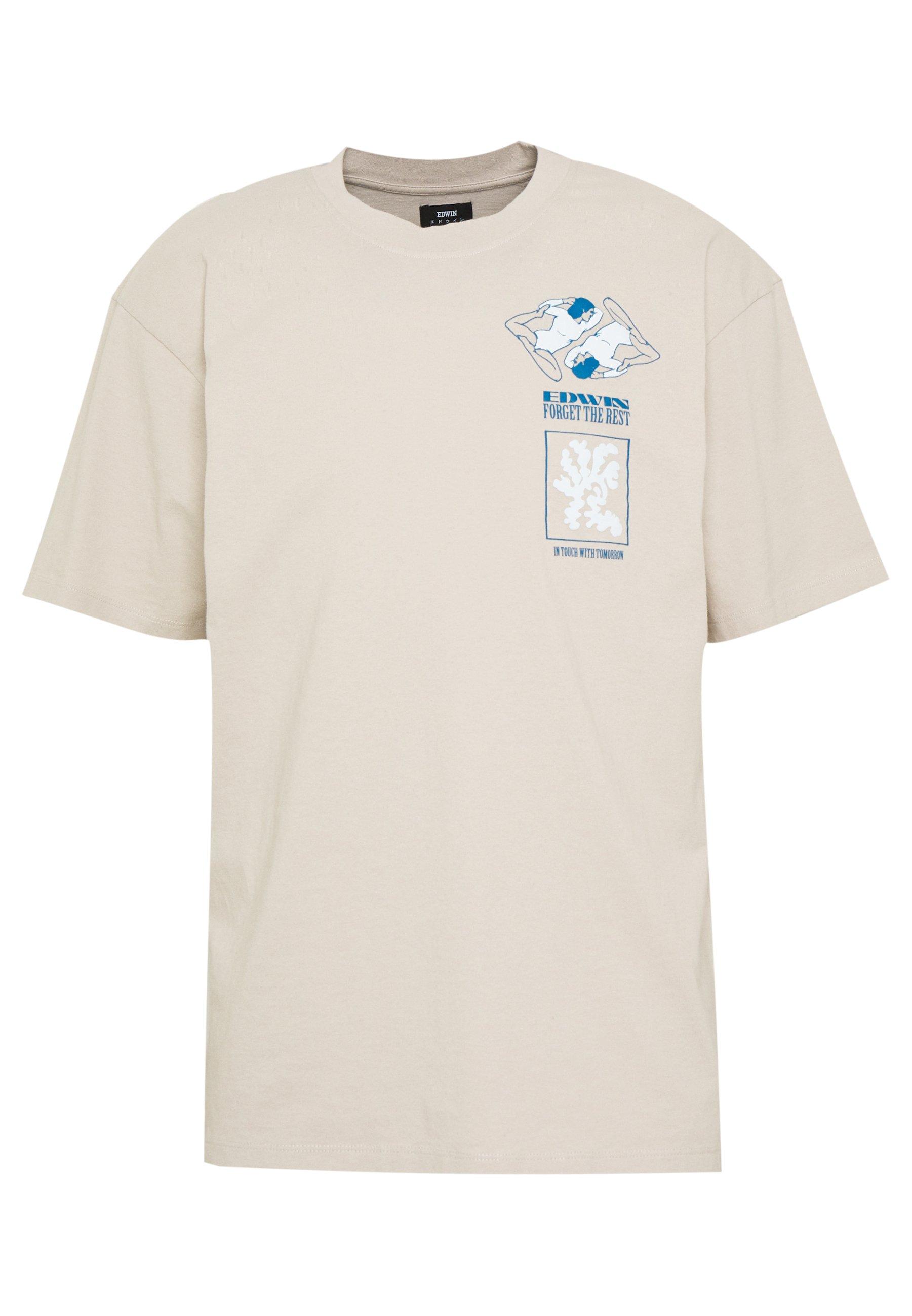 Edwin Self Examination - T-shirt Con Stampa Silver Cloud QXHKo0f