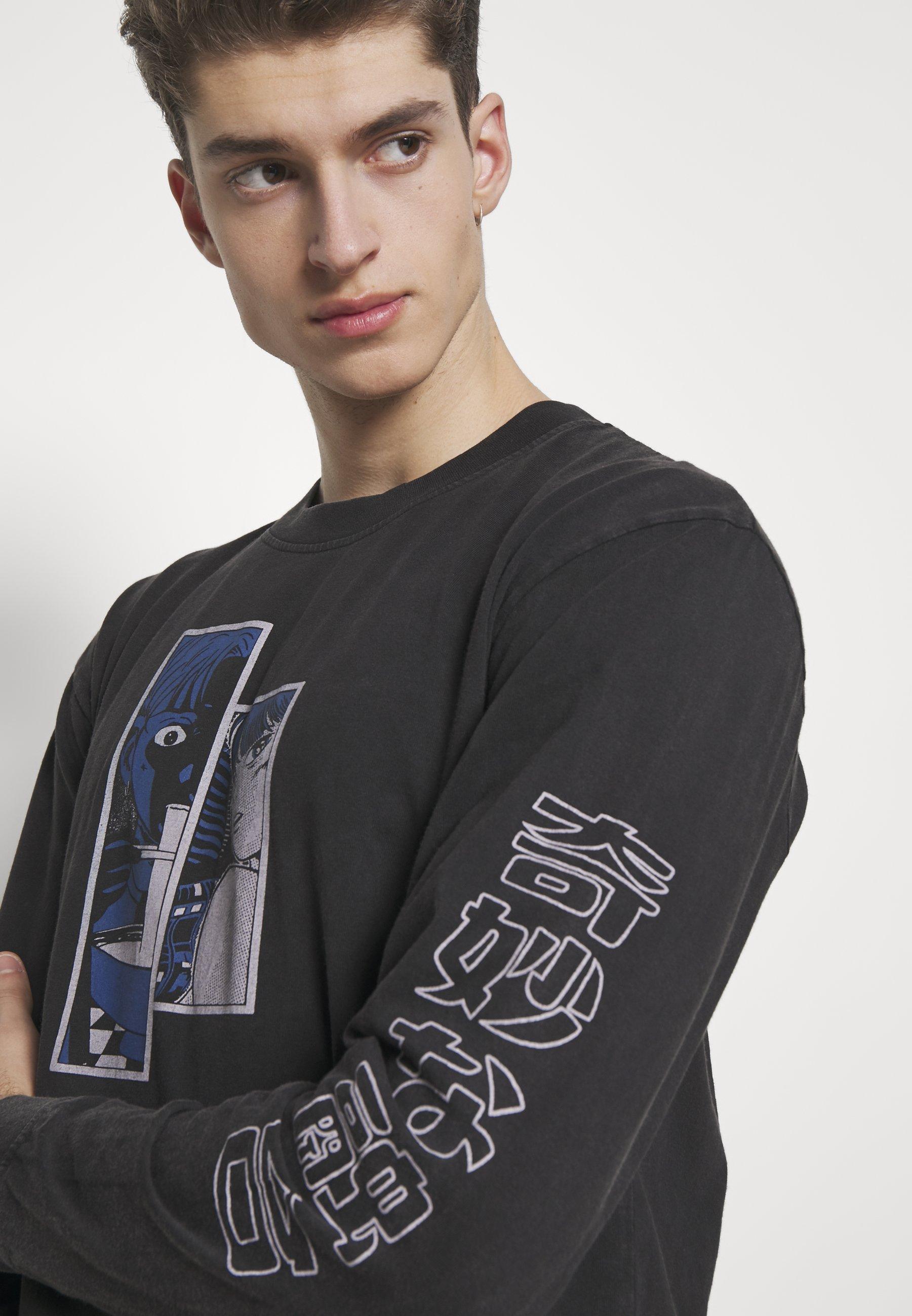 Edwin STRANGE FUSION - Bluzka z długim rękawem - black