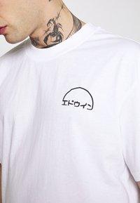 Edwin - DAWN - T-shirt imprimé - white - 5