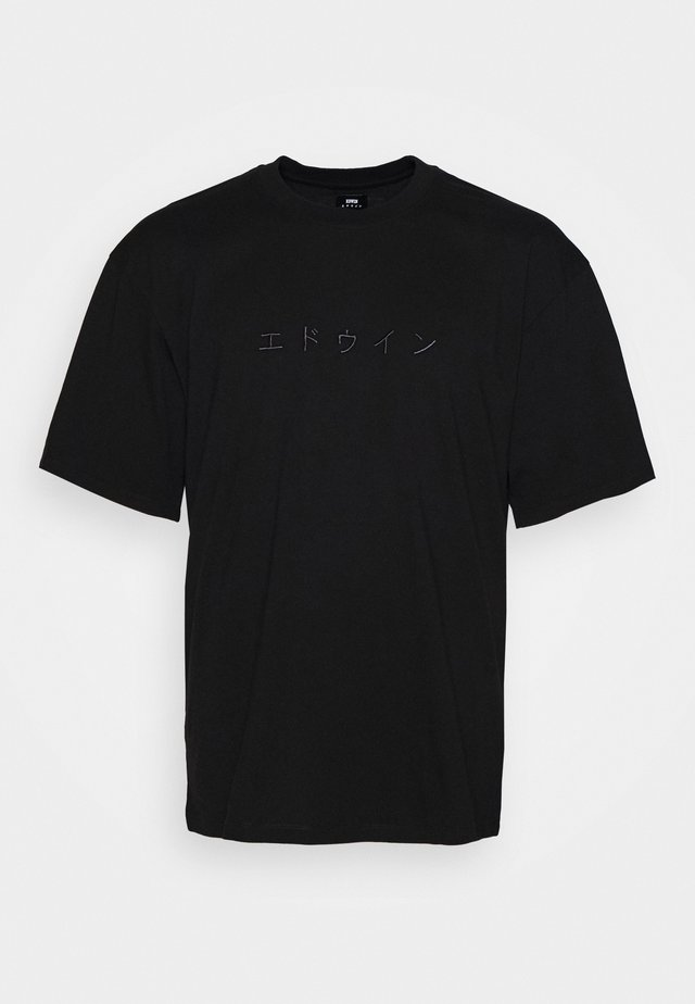 KATAKANA EMBROIDERY - T-shirt med print - black