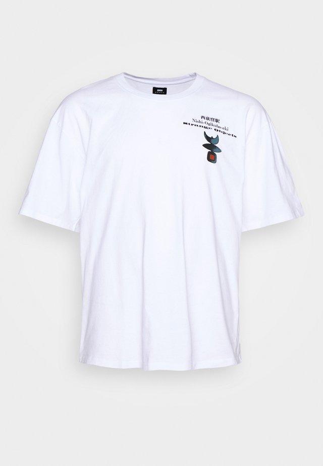STRANGE OBJECTS - Print T-shirt - white
