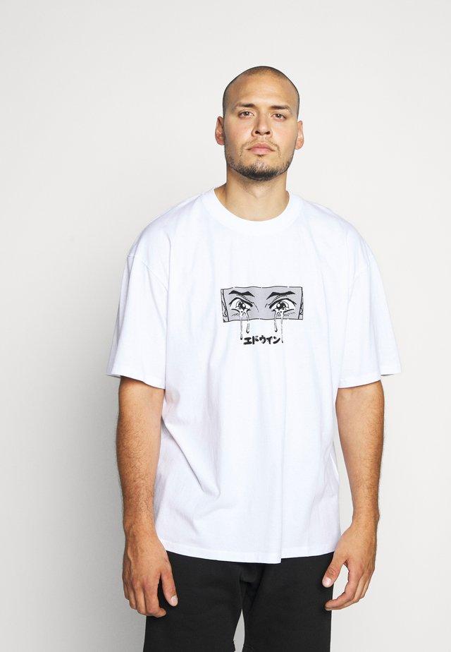 SAD - T-shirt med print - white