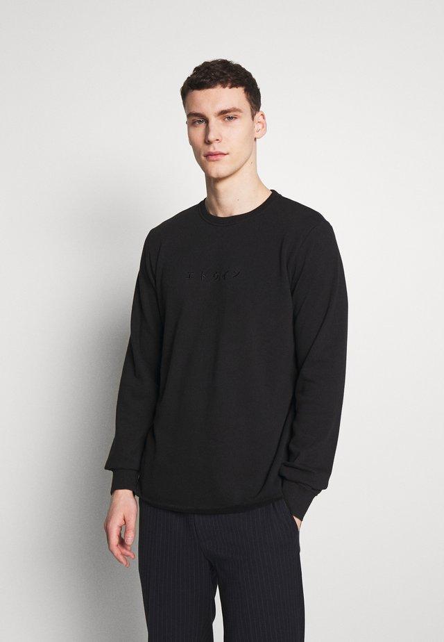 TERRY KATAKANA - Sweatshirt - black
