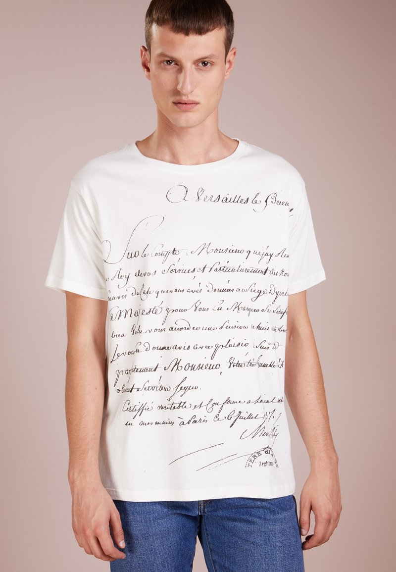 Editions MR - VERSAILLES SHIRT - Print T-shirt - white