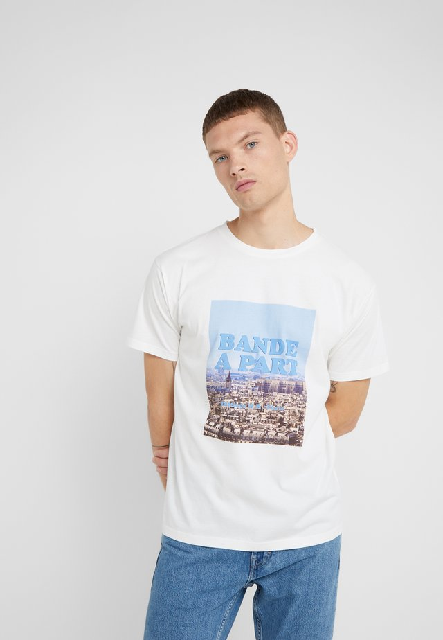 PARIS OVERSIZED - T-shirt con stampa - white
