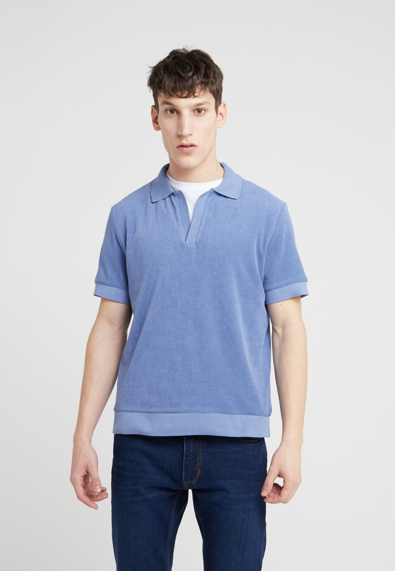 Editions MR - SHORT SLEEVE TERRYCLOTH - Polo shirt - blue storm