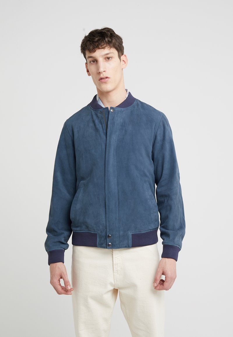Editions MR - JEAN PAUL JACKET - Leather jacket - dusty blue