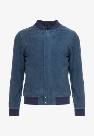 JEAN PAUL JACKET - Kožená bunda - dusty blue