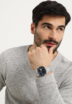 Montre - silver-coloured/blue