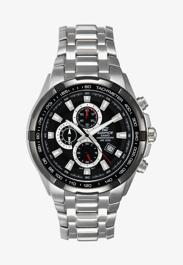 Chronograph watch - silver-coloured/schwarz