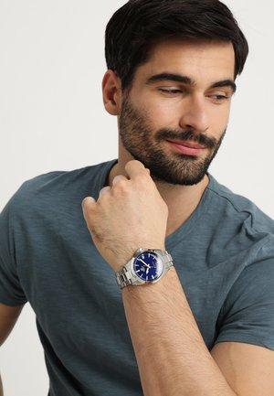 Klokke - silver-coloured/blue