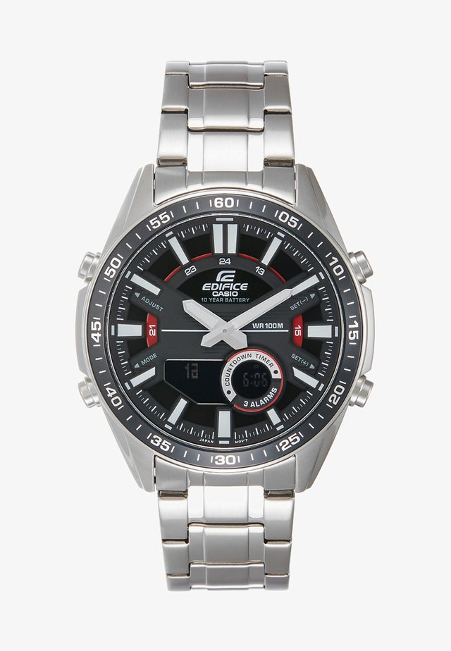 Chronograph watch - silver-coloured/black
