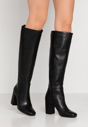 KASOTA - Kozačky na vysokém podpatku - black