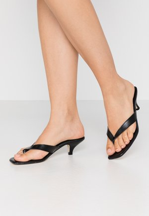 LOUIZA - T-bar sandals - black