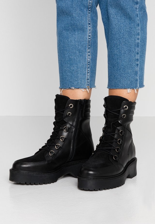 HEDVIG - Platform ankle boots - black