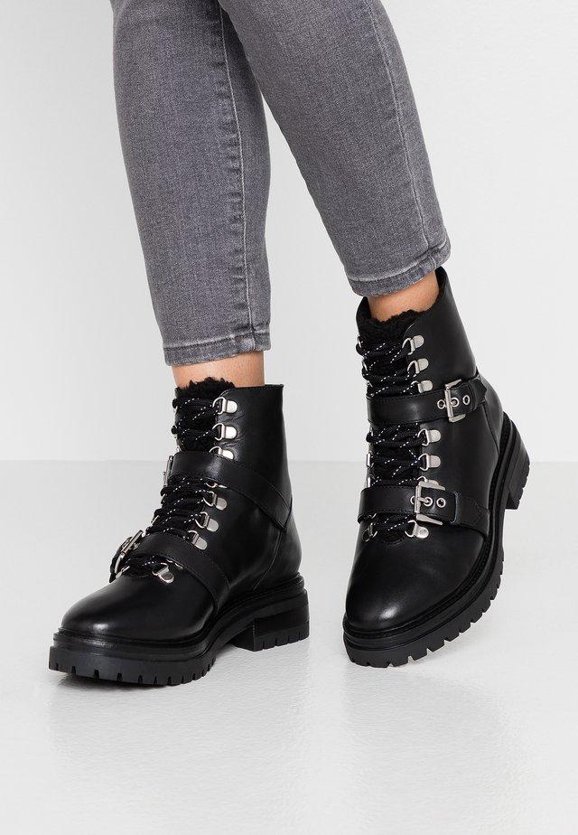 SAWYER - Platform ankle boots - black
