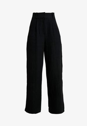 LUCY TROUSERS - Spodnie materiałowe - black