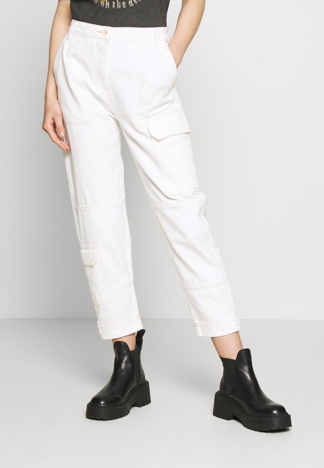 KAILEE TROUSERS - Cargobyxor - offwhite