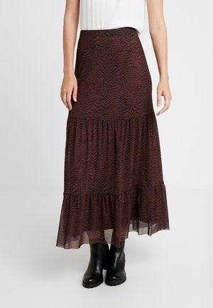 HOVET SKIRT - A-line skirt - brown/black