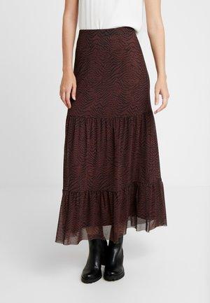 HOVET SKIRT - Áčková sukně - brown/black