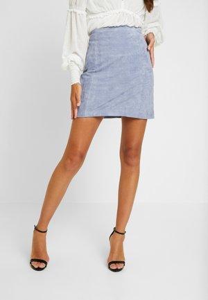 CELIA SKIRT - Leather skirt - baby blye