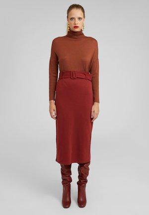 ROCK GIA - Pencil skirt - brown