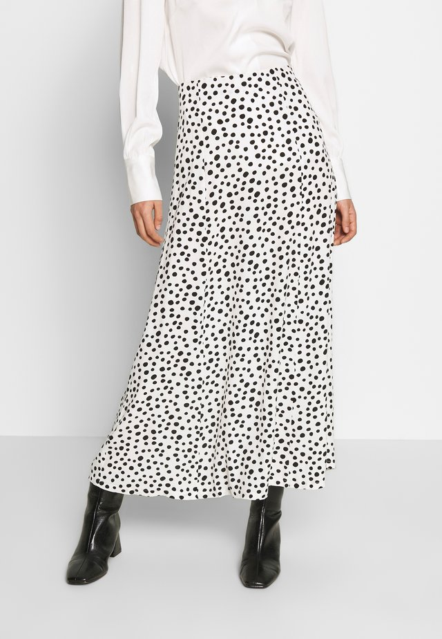HEIDY SKIRT - Długa spódnica - black/white