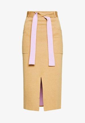 LAURINA SKIRT - Pencil skirt - beige