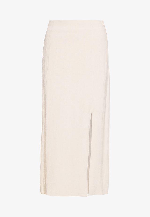 ZOJA SKIRT - Maxi skirt - beige