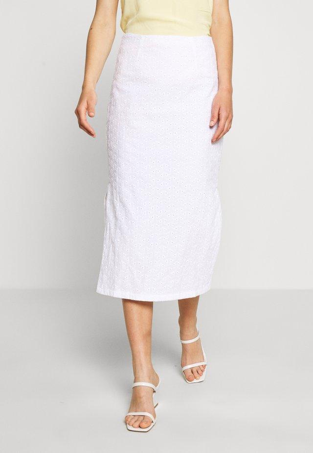 SIONA SKIRT - A-line skirt - weiß