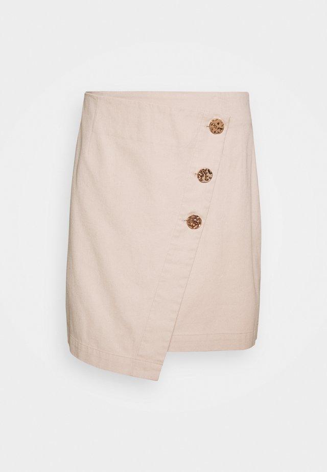 MELE SKIRT - Mini skirt - camel