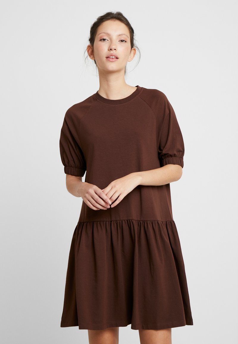 EDITED - ISRA DRESS - Jersey dress - chestnut