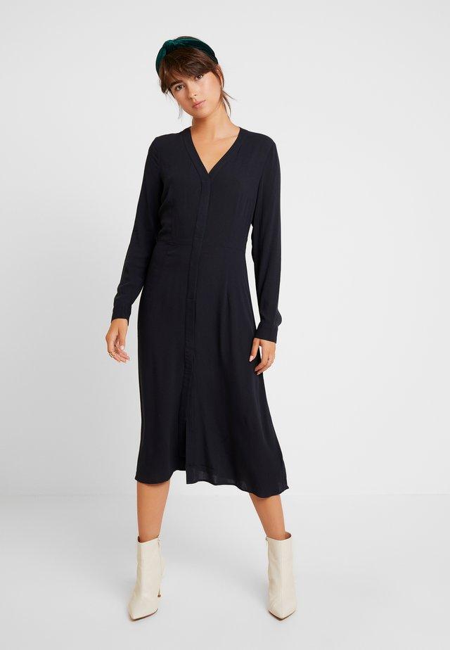 SALLIE DRESS - Skjortekjole - black