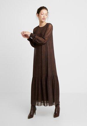 HARRIET DRESS - Maxi dress - brown/black