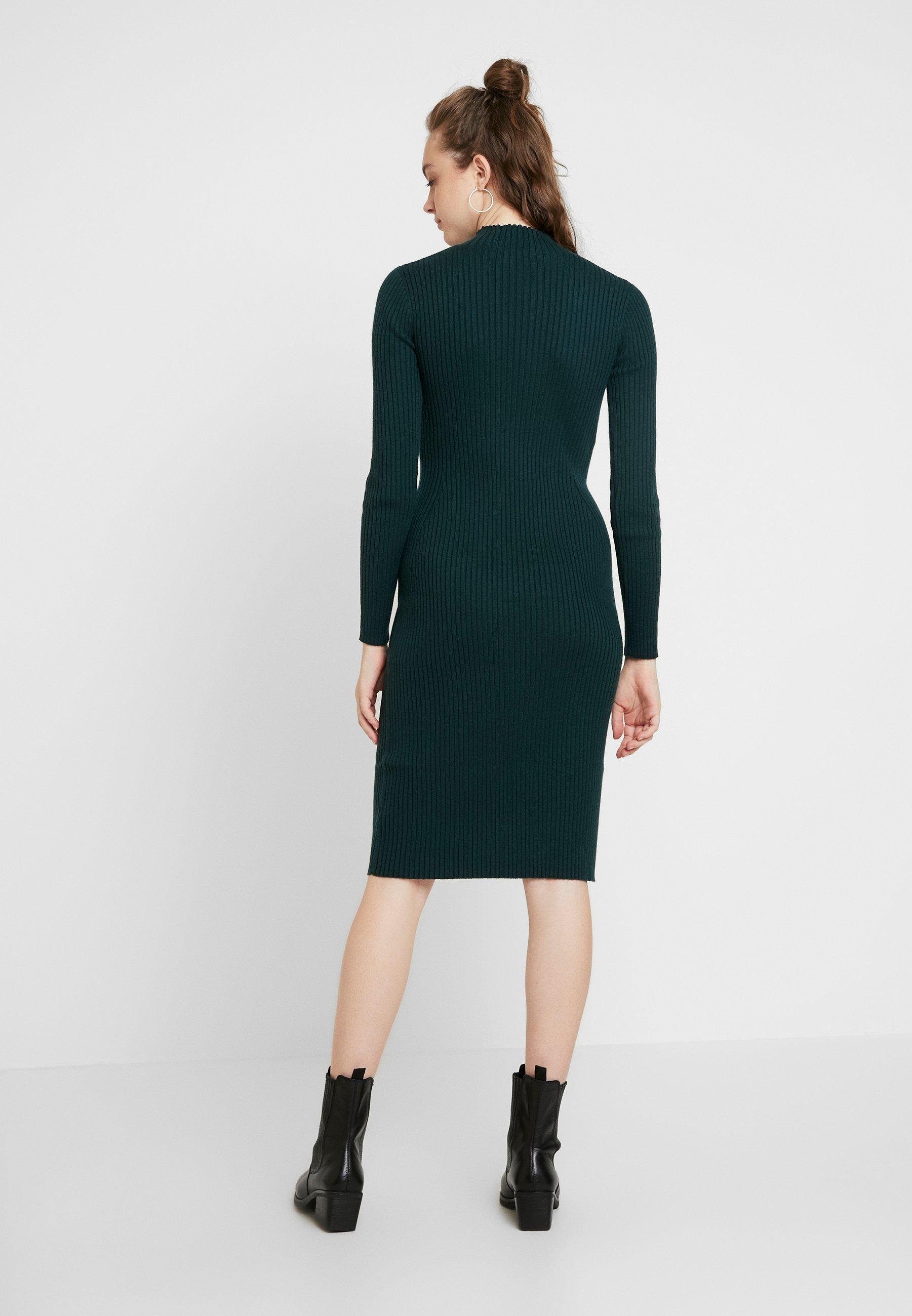 EDITED HADA DRESS - Abito in maglia grün/dunkelgrün