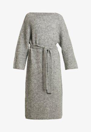 ISAC DRESS - Gebreide jurk - grau