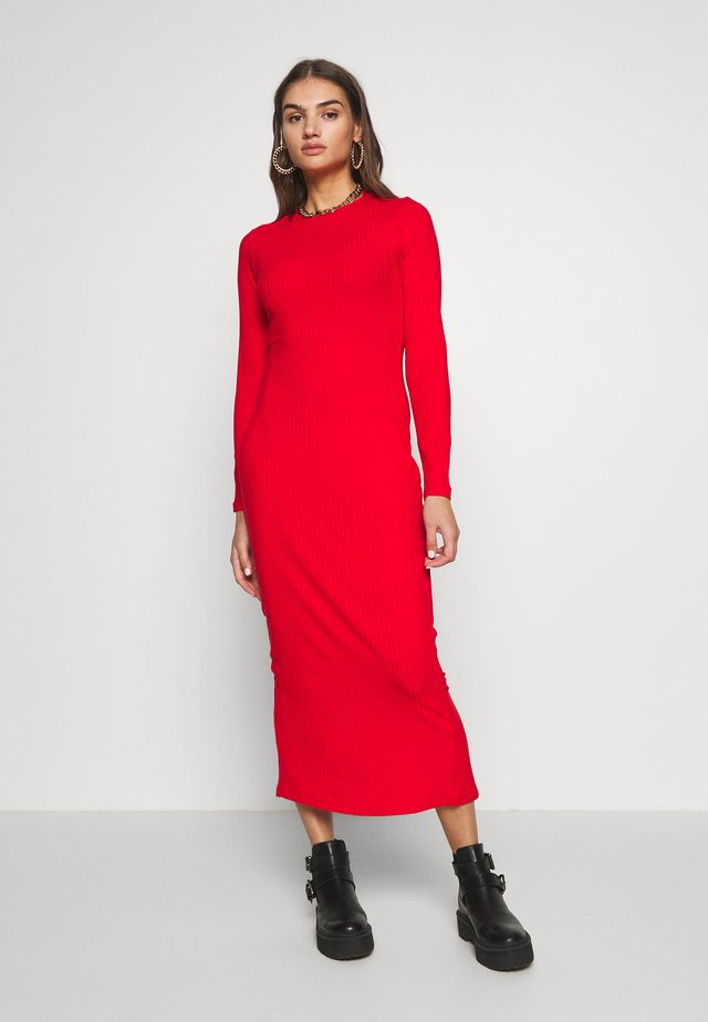 FABIOLA DRESS - Vestido de punto - rot
