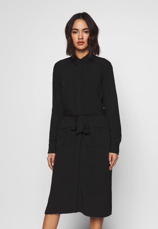 RILANA DRESS - Skjortklänning - schwarz