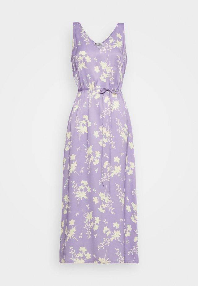 NAVAL DRESS - Korte jurk - lila/gelb