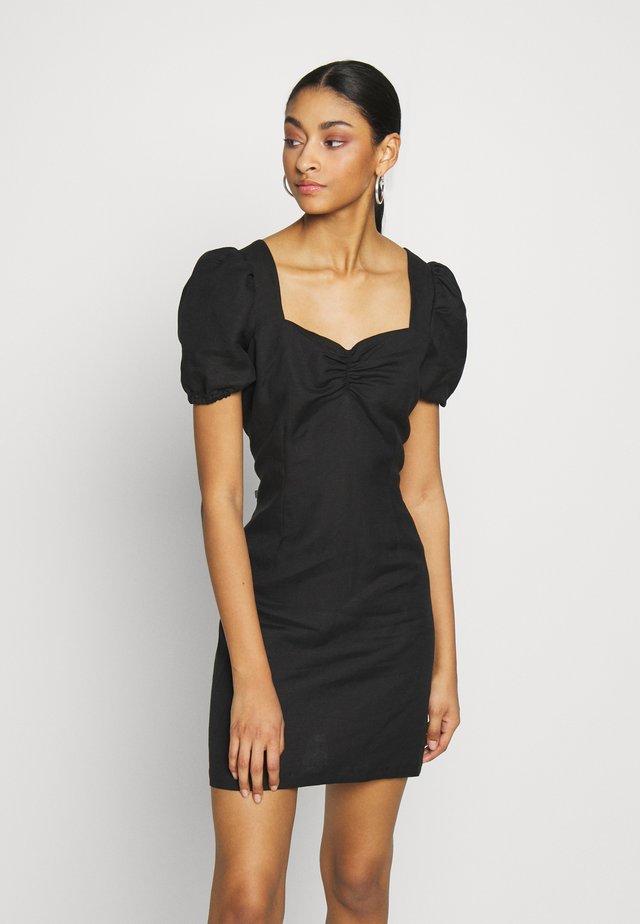 TELMA DRESS - Korte jurk - black