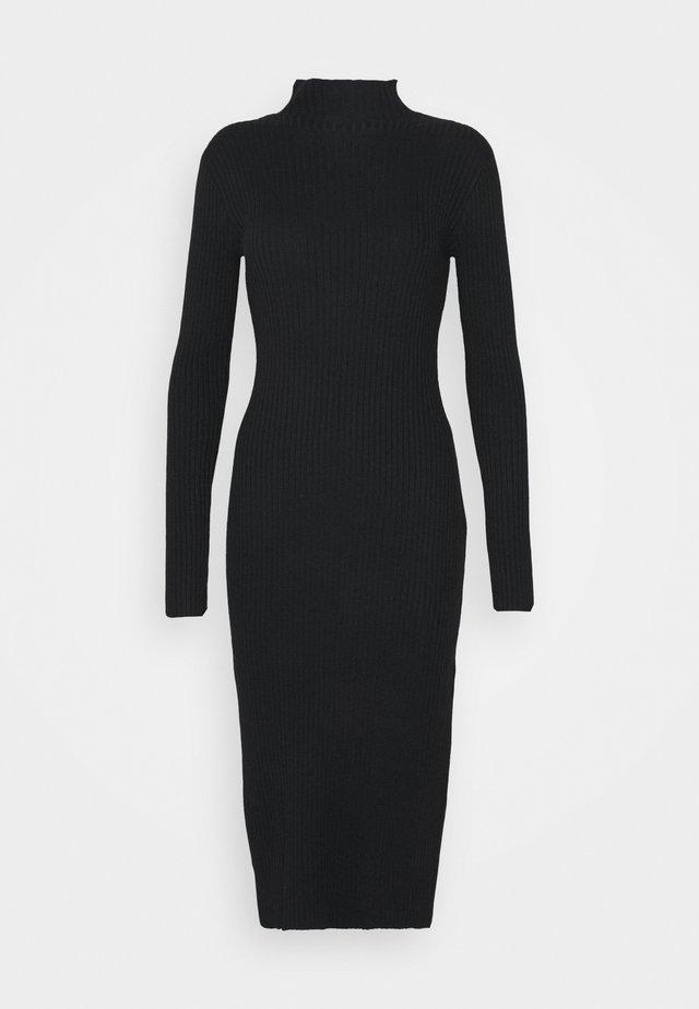 HADA DRESS - Strikket kjole - black