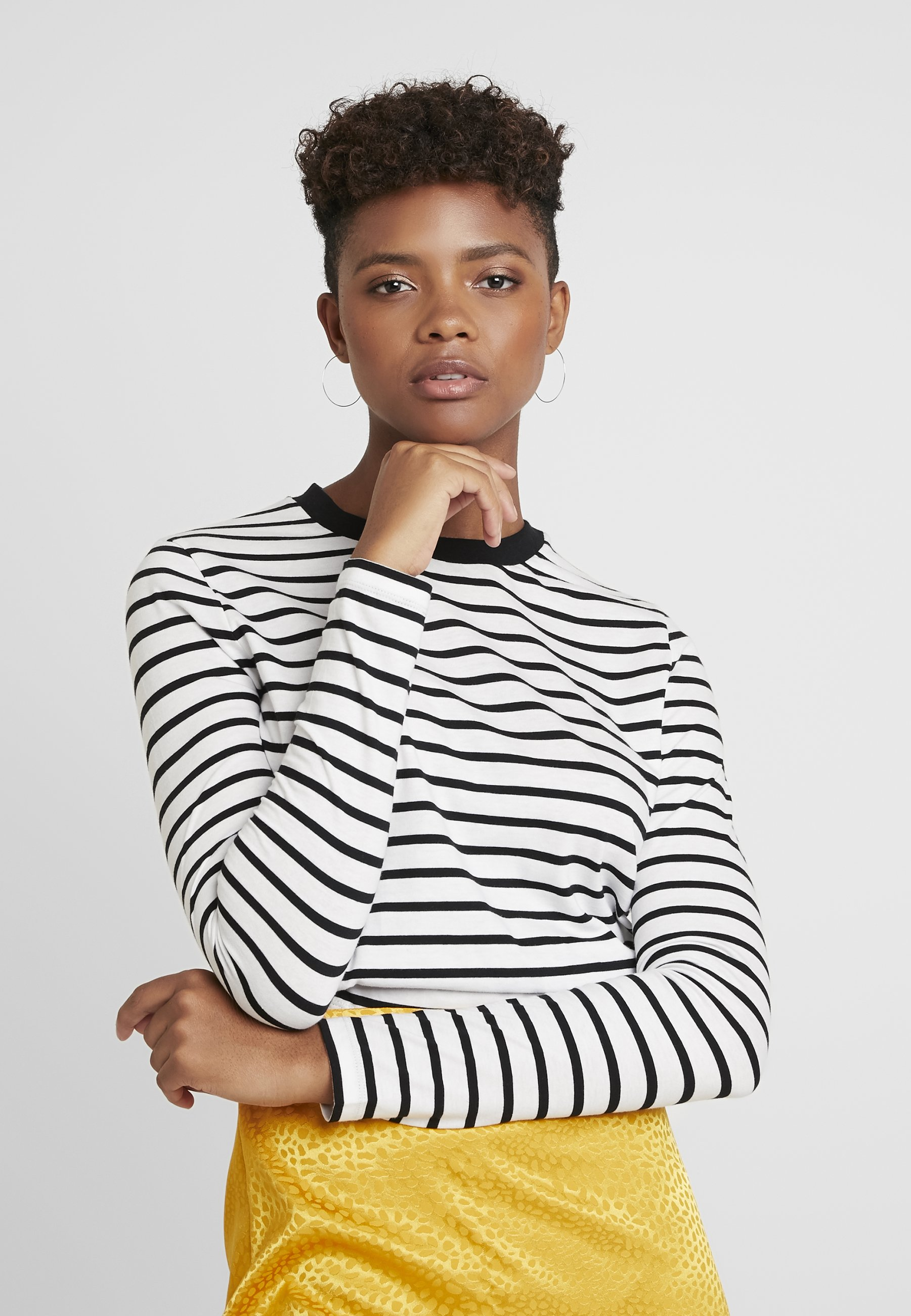 off À shirt Pixie Manches White Black LongsleeveT Longues Edited KFcu13TlJ