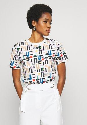 LANEY - T-shirt med print - offwhite/red/blue