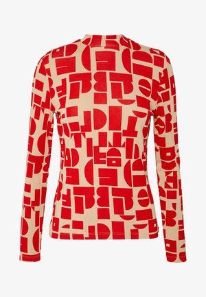 MIAH LONGSLEEVE - T-shirt à manches longues - red/beige