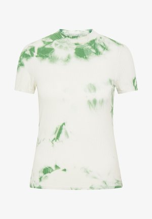 JUANA - Print T-shirt - basil/white swan tie dye