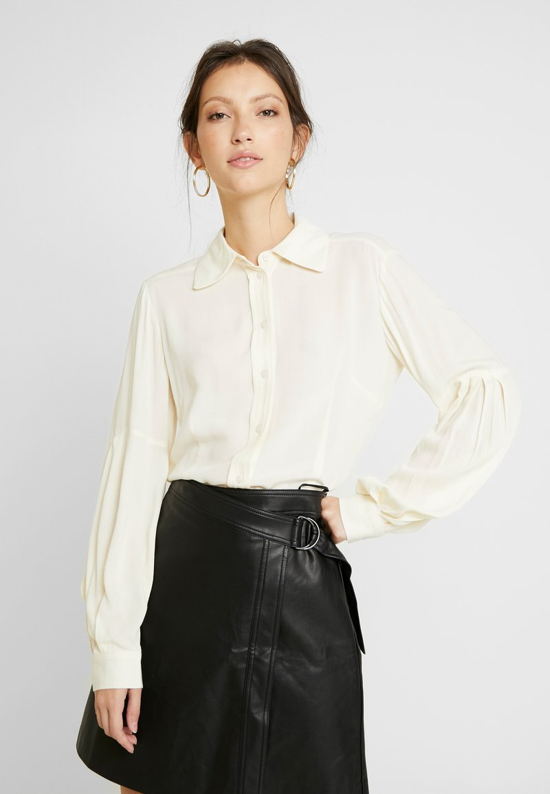 EDITED - FAE BLOUSE - Button-down blouse - weiß