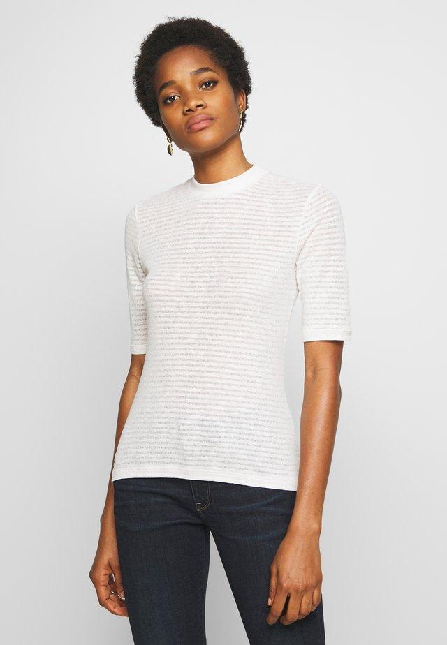 JAMIA - Camiseta estampada - weiß/creme/beige