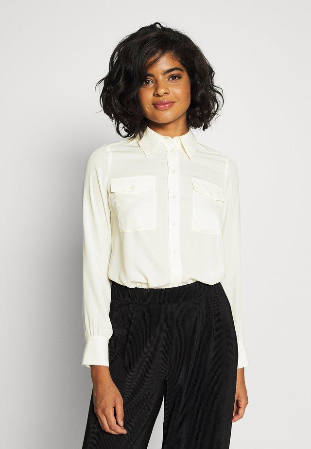 NAHLA BLOUSE - Button-down blouse - weiß