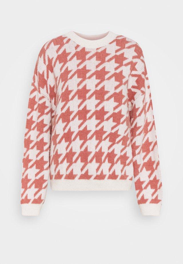 COLLEEN JUMPER - Jersey de punto - pink/offwhite