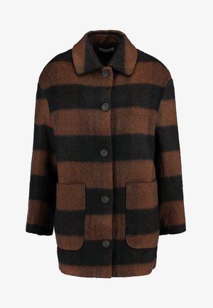 KIAN COAT - Krátký kabát - black/ brown